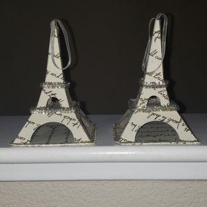 2 Eiffel Tower ornaments